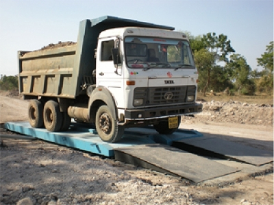 Without foundation truck scales